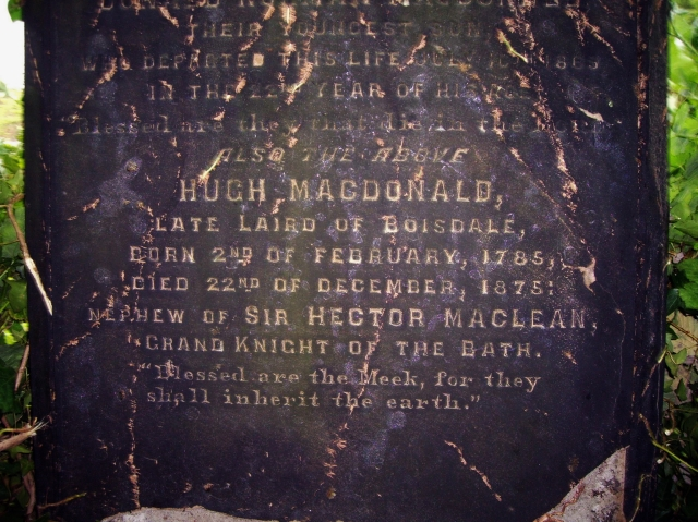 Hugh Macdonald's gravestone