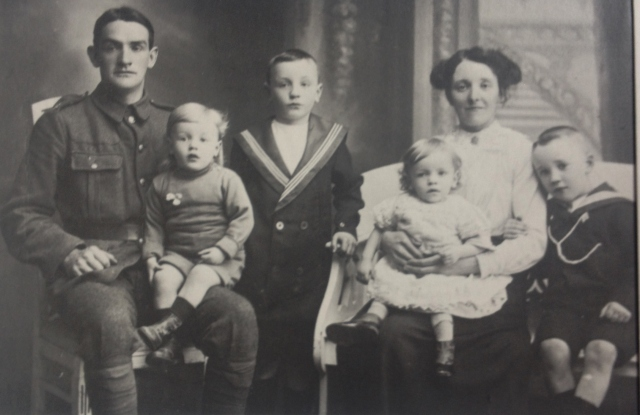 John & Roseanna Moore with 4 sons