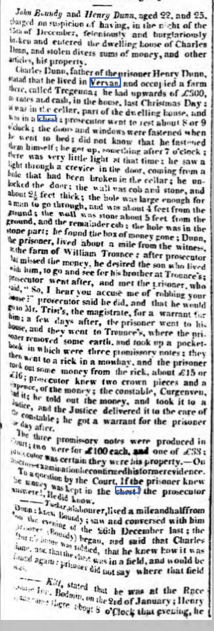 1817 Henry Dunn stealing from Charles Dunn part 1