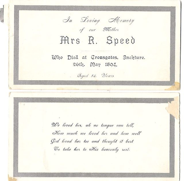 Mary Speed funeral notice - Copy
