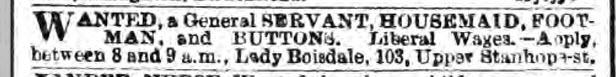 Lady Boisdale ad June 1875